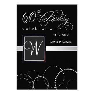 soixantième Invitations de fête d anniversaire - a