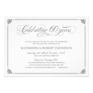 Soixantième invitations formelles d anniversaire