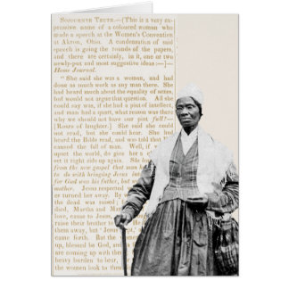 Sojourner Truth - Women's Rights Card