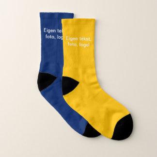 Sokken uni Geel (buiten) en Blauw (binnen) Socks
