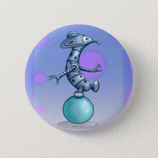 SOL CUTE ROBOT ALIEN Round Button 2¼ Inch