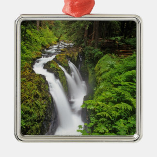Sol Duc Falls in Olympic National Park in Metal Ornament