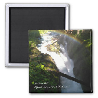 "Sol Duc Falls Olympic National Park 2"" Magnet"