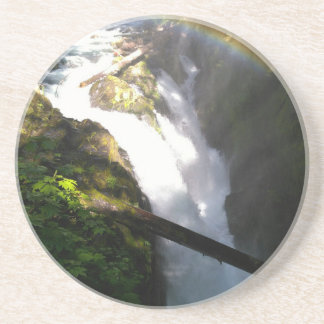 Sol Duc Falls Olympic National Square Tile Coaster