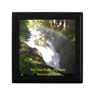 Sol Duc Falls Olympic National Square Tile Gift Box