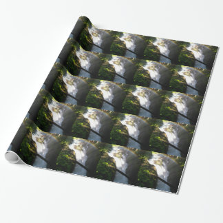 Sol Duc Falls Olympic National Square Tile Wrapping Paper