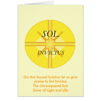Sol Invictus Greeting Card