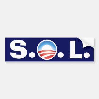 SOL Obama - Tea Party's gonna win Bumper Sticker