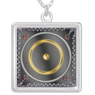 sol sigil silver plated necklace