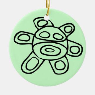 Sol Taíno de Jayuya Round Ceramic Ornament