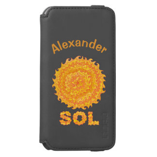 Sol The Sun Space Geek Yellow And Orange Star Incipio Watson™ iPhone 6 Wallet Case
