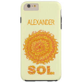 Sol The Sun Space Geek Yellow Orange Star Tough iPhone 6 Plus Case