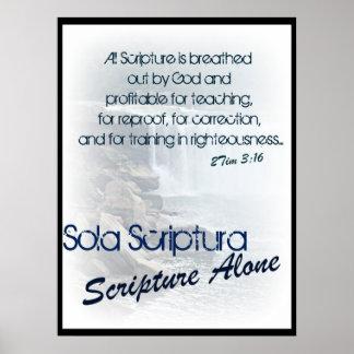Sola Scriptura/ scripture alone Poster