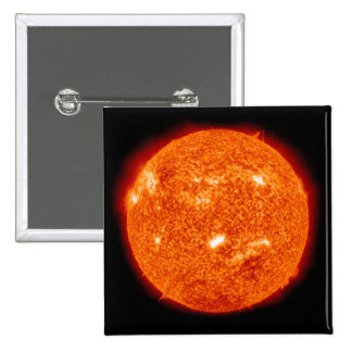 Solar activity on the Sun 2 Pinback Buttons
