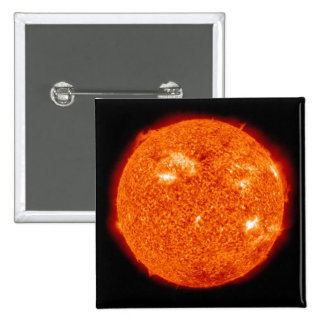 Solar activity on the Sun 3 2 Inch Square Button