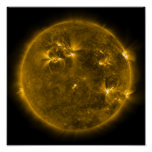 Solar activity on the Sun 4 Poster