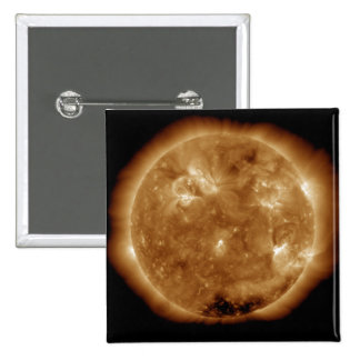 Solar activity on the Sun 5 2 Inch Square Button