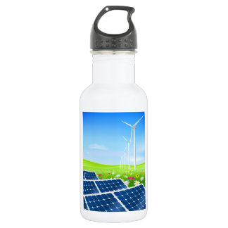 Solar And Wind Power Water Bottle