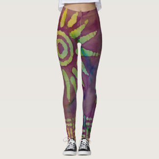 Solar batik leggings