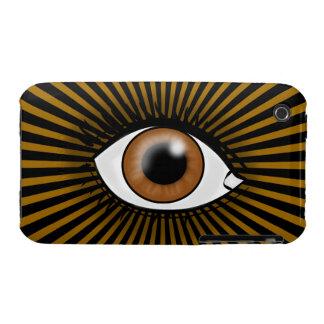 Solar Brown Eye iPhone 3 Cases