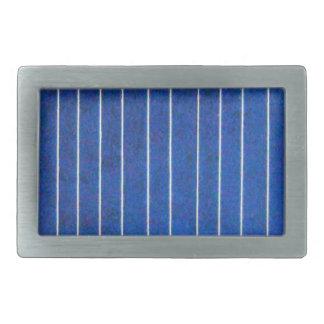 Solar Cell Panel Blue and White Belt Stripe Buckle Rectangular Belt Buckle