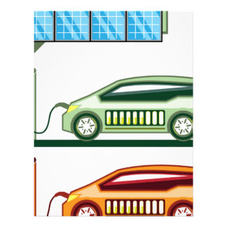 Solar Charging Station Electric Vehicle Letterhead Template