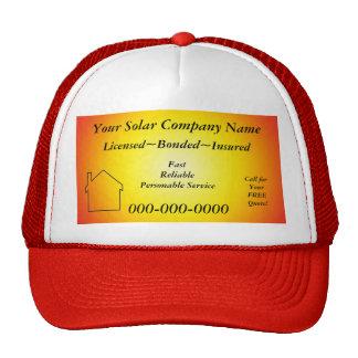 Solar Company Ad Hat