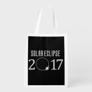 Solar Eclipse 2017 Grocery Tote Grocery Bags