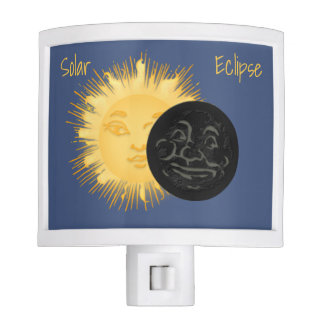 Solar Eclipse 2017 Man in the Moon and Sun Nite Lite