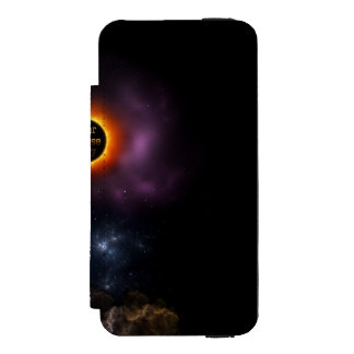 Solar Eclipse 2017 Nebula Bloom Incipio Watson™ iPhone 5 Wallet Case