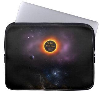 Solar Eclipse 2017 Nebula Bloom Laptop Sleeve