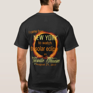 Solar Eclipse 2017 - New York to TN T-Shirt