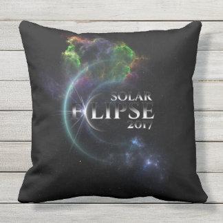 Solar Eclipse 2017 Outdoor Pillow