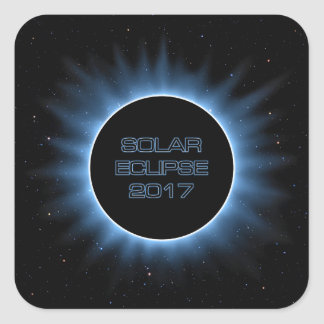Solar Eclipse 2017 Square Stickers