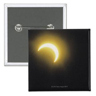 Solar eclipse 2 inch square button