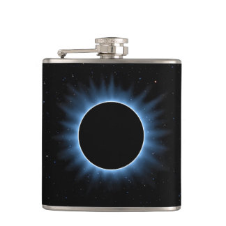 Solar Eclipse 6 oz Vinyl Wrapped Flask