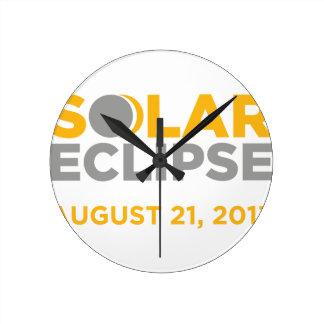 Solar Eclipse August 21 2017 Wall Clock