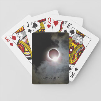 Solar Eclipse August 21st 2017 Playing Cards