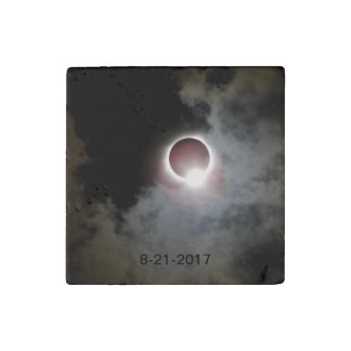 Solar Eclipse August 21st 2017 Stone Magnets