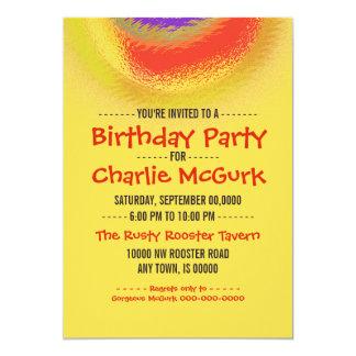 Solar Eclipse Birthday Party Invitation