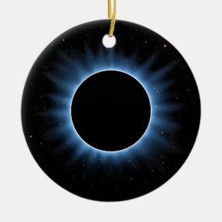 Solar Eclipse Ceramic Round Ornament