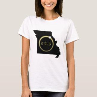 Solar Eclipse Corona Missouri Silhouette T-Shirt