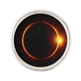 Solar Eclipse Dark Sun & Moon Lapel Pin