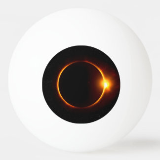 Solar Eclipse Dark Sun & Moon Ping Pong Ball