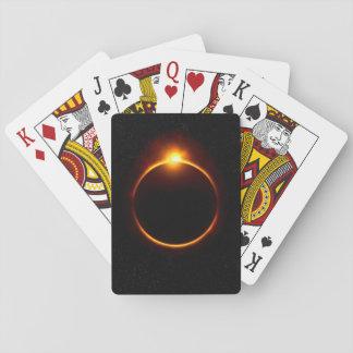 Solar Eclipse Dark Sun & Moon Playing Cards