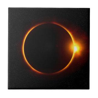 Solar Eclipse Dark Sun & Moon Tile