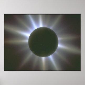 Solar Eclipse. (eclipse;light_Space Scenes Poster