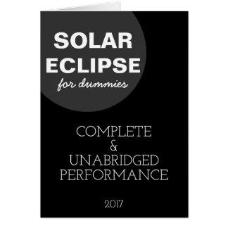 Solar Eclipse For Dummies funny customizable Card