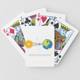 Solar Eclipse Geometry Illustration Bicycle Playing Cards