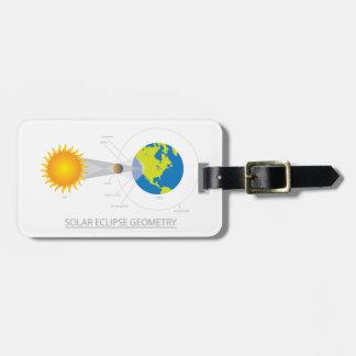 Solar Eclipse Geometry Illustration Luggage Tag